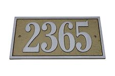 MAJESTIC MFG ALUMINUM ADDRESS PLAQUE Rectangle SIGN HOUSE NUMBERS
