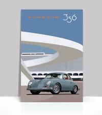 "Classic Porsche 356 on a Tarmac. Vintage Air Cooled. Poster Aluminum 36""x 24"""