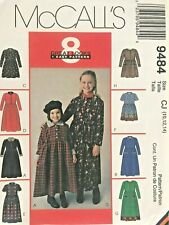 McCall's Girls' Dress Pattern 9484 Size 10-14 UNCUT