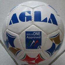 Stock 10 Palloni Calcio a 5 AGLA Bola One Approved Bianco/Blu