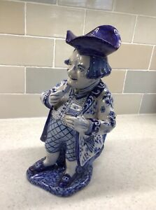 Antique blue and white Delft Toby Jug