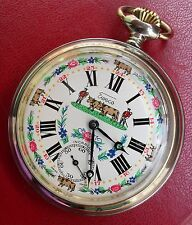 1950 SWISS EWECO POCKET WATCH ( DEP. HUGUENIN) 15 JEWELS  cal. 6445 N.O.S.
