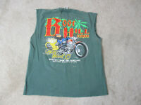 VINTAGE Bike Week Shirt Adult Large Green Boot Hill Saloon 1995 Biker Motorcycle
