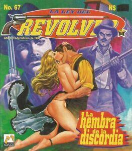 LA LEY DEL REVOLVER MEXICAN COMIC #67 MEXICO SPANISH HISTORIETA WESTERN 1996