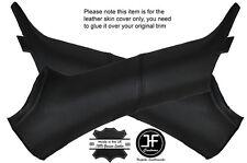 BLACK STITCH 2X A PILLAR LEATHER COVER FITS AUDI TT MK1 CABRIO CONVERTIBLE 98-06