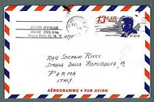 UNITED STATES - USA - Aerogramma - 1968 -  Da Forest Hills,N.Y. a Parma/IT