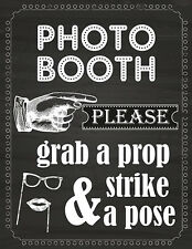 DIGITAL Chalkboard Photo Booth sign props NO PHYSICAL ITEM