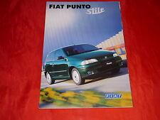 """FIAT Punto """"Stile"""" Sondermodell Prospekt + Preisliste von 1998"""