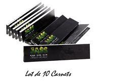 JASS SLIM NEGRO Edition - Lote de 10 Cuadernos De 32 Papel a liar