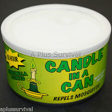 50 Hour Citronella Survival Candle in a Can for Camping Hiking Car Survival Kits