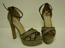 NEW Womens Sz 9.5 STEVE MADDEN P-Rada Black Multi Platform Heels