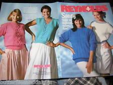 Reynolds Saucy Pattern Book Vol 300 Sweater Knitting Pattern 1.12