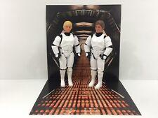 """custom star wars death star corridor backdrop ikea detolf display 12"""" sideshow"""
