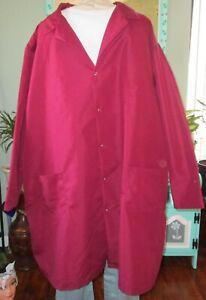 """Best Medical Men L/S Lab Coat Snaps side Vent 3 Pocket 43"""" Length Sz 4X Burgundy"""