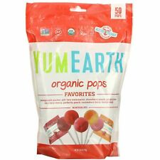 YumEarth Organic Pops Favorites 50 Pops 10.9 oz (310 g) New