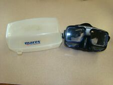 MARES Tech Black Scuba Snorkeling Mask Adult WITH CASE