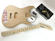 5150 UK Kramer style banana Neck Baretta guitar Body Floyd rose kit