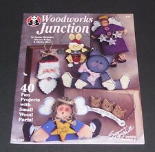 WOODWORKS JUNCTION INSTRUCTION HOW TO LESSON BOOK FOR 40 FUN WOOD CRAFT PROJECTS