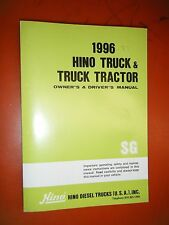 1996 HINO TRUCK & TRUCK TRACTOR ORIGINAL FACTORY OWNER'S DRIVER'S MANUAL