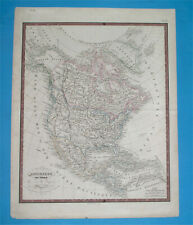 1849 ORIGINAL MAP TEXAS UNITED STATES CALIFORNIA FLORIDA NEW YORK MEXICO CANADA