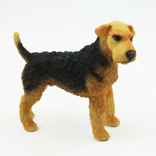 Resin MINI Airedale Terrier Dog Hand Painted simulation model Figurine Statue