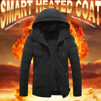 Women Men Electric Heating Jacket Heated Padded Coat Quilted Hooded Padded Parka