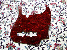 PICKGUARD JAZZ BASS 3 PLIS NEUF /  FINITION RED BLACK TORTOISE SHELL