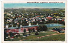 BIRD'S EYE VIEW From State Hospital Grounds SPENCER West Virginia -1940 POSTCARD