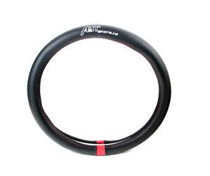 ABT Sportsline Black Carbon Fiber Car Steering Wheel Cover Decoration 38CM
