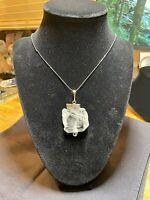 Rare Faden Quartz Crystal Mineral Gemstone Necklace Pendant Specimen 002