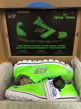 NIB NEW Skechers Rare Nite Owl 2.0 Flash Mens Running Shoes Size 7.5 Green E2
