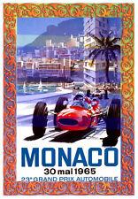 -A3 Size 1965 23rd Monaco Grand Prix - Motor Car Racing Vintage Poster #09