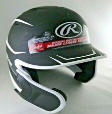 Rawlings Adult Mach Matte Black & White Batting Helmet w/ Extension RH or LH