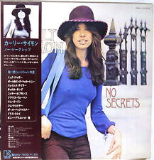 "CARLY SIMON ""No Secrets"" RARE Original Japan Lp, w/gatefold & picture OBI"