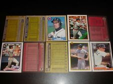 Rare Lot of (10) Different Alan TRAMMELL ERROR CARDS 1987-1992 Detroit Tigers
