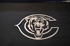 Chicago Bears Metal Art Football Art - Brushed steel