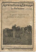 Revue 1913. Agriculture & élevage La Fermière.16 pages.Nombreuses Pub.