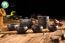 Handmade Wood-Fired Ceramic Ruyi Gongfu Tea Set Teapot Pitcher Four Teacups