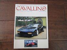 VINTAGE CAVALLINO FERRARI MAGAZINE NUMBER 63 June 1991 Testarossa Cover