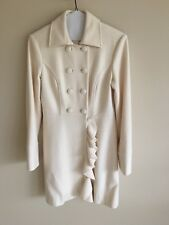 bebe Coat Jacket Size Small Off White/ Cream color.  fully lined. Ruffle details