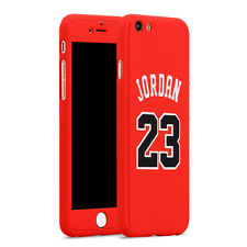 Apple iPhone 7 Full Case Basketball Michael Jordan Red Cover Screen Protector UK