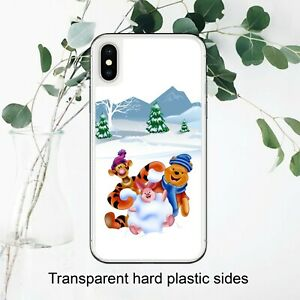 Winnie The Pooh Winter Christmas Case Cover for iPhone Samsung Huawei Google