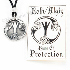 EOLH PROTECTION RUNE Amulet Talisman Viking Norse Warrior Pendant Runic Shield