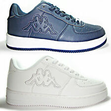KAPPA mod air force basse scarpe uomo donna sneakers running bianche blu