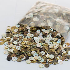 3,000 Mother of Pearl 2-hole Shell Buttons Shirt Art Craft 13mm (Wholesale)