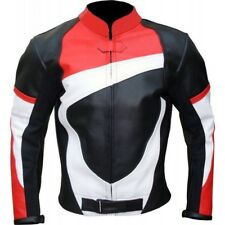 New Mens Classic Motorcycle Racing Cafe Biker 100% Cowhide Leather Jacket
