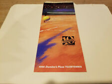 Sacramento Capitals 1990 Domino's Pizza Team Tennis Schedule Brochure