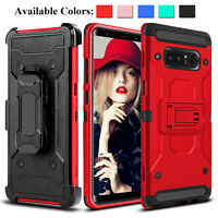 For Samsung Galaxy Note 9 8 S10+ S9+ Shockproof Hybrid Kickstand Clip Case Cover