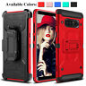 For Samsung Galaxy Note 10 9 8 S10+ S9 Plus Shockproof Kickstand Clip Case Cover