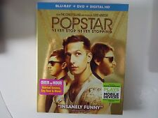 Popstar: Never Stop Never Stopping (Blu-ray/DVD, 2016) NEW w/slipcover